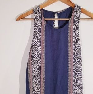 O'Neill Sleeveless Midi Dress Blue/Print